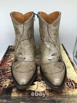 New Old Gringo Flor Loca 6 Bottes À Cheville Flora Taille 9 Sintino Usaso Neige 450 $