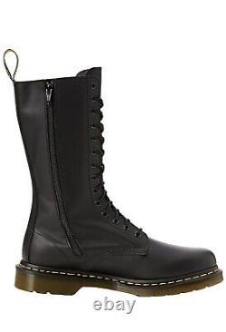 Nib Dr. Doc Martens Vonda Roses Soft Leather Black 14 Taille Des Yeux 9 Us Femmes