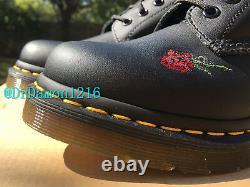 Nib Dr. Martens Chaussures Pour Femmes 1914 Vonda 14 Eye Floral Leather Boots 12761001