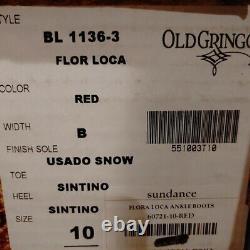 Nib Old Gringo Flor Loca Bottines Rouges (10)