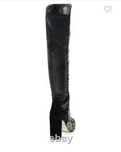 Nouvelles Bottes Stuart Weitzman 5.5 Velvet Sequined Brodées Au-dessus Des Bottes Alljill Knee