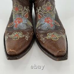 Old Gringo Bonnie Bottes Brodé Floral Taille 8.5 Cowboy Festival Western Boho