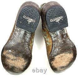Old Gringo Bonnie Pipin Floral Black Leather Femmes 10 B Western Cowboy Boots