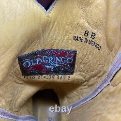 Old Gringo Bottes Lukenbach Brodées En Cuir Brun 8b