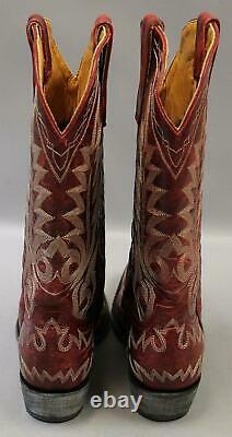 Old Gringo Bottes Western Nevada Mc7 Vesuvio Red L175-262 Taille De 9b 399 $