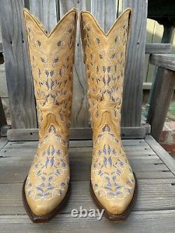 Old Gringo Brodé Western Cuir Bottes De Cowboy Tan 8b #1438 2542