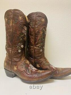Old Gringo Broded Boot Sz 8.5