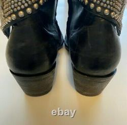Old Gringo Clovis Black Studded Short Booties Taille 6 B
