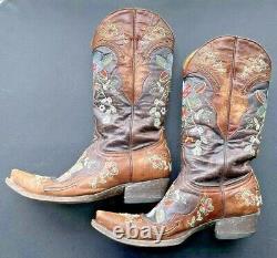 Old Gringo El Dia De Los Muertos Bottes De Cowboy Fleuri Taille 8.5 B Excellent