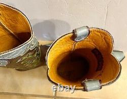 Old Gringo Naomi Turquoise Floral Brodé 13 Bottes Sz 7 Euc Worn Once $559