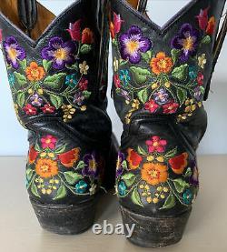Old Gringo Sora 8 Bottes Brodées En Cuir Floral Taille Femme 8 L841-2