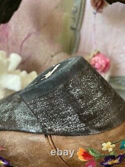 Old Gringo Sora Brodé Floral Tan Brown Cowgirl Courte En Cuir Boot 6 Euc