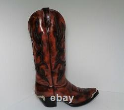 Rare Vintage J Chisolm Dames Western Cowboy Femmes Bottes Bourgogne États-unis Taille 6.5