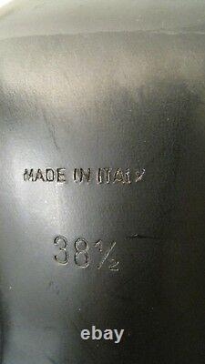 Rene Caovilla Taille 38.5 Chaussures Hautes Bottes Couture Cuir Noir Suède Soie Italie