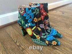 Stuart Weitzman Pure Pointy Toe Floral Brodé 90mm Booties Taille 8