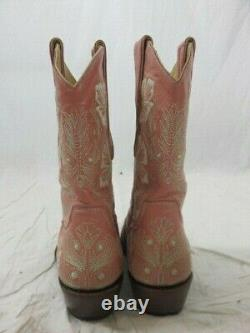 The Old Gringo Pink Floral Embroidered Cowboy Boot Taille 7b
