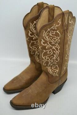 Twisted X Bottes De L'ouest Femmes 5,5 B Carré Embroidery Distressed Saddle Wwt0022