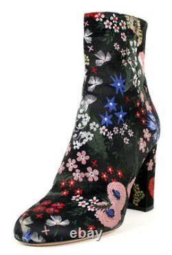 Valentino 1 495 $ Multi Floral Camugarden Bottines À Talons Hauts 37
