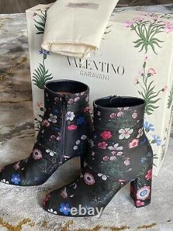 Valentino 1495 $ La Cheville Nib Camugarden Jacquard Brodé Floral Botte 36 / 6fr