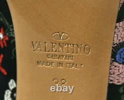 Valentino 1495 $ Multi Floral Camugarden Talon Haut Bottines 38