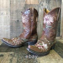 Vieille Fleur De Gringo Bottes De Cowboy Femmes 7 B