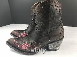 Vieille Gringo Femmes Western Brown Broderie Rose Bottes De Jardin Taille 5.5 Lke Nouveau