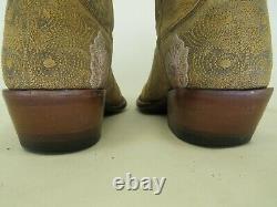 Vieux Gringo Brun Cuir Brodé Floral Cowboy Bottes Occidentales Femmes Taille 6 B