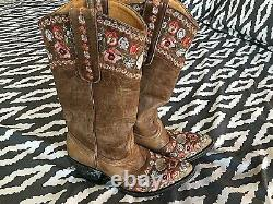Vieux Gringo Des Femmes Made In Mexico Floral Cowboy Boot Taille 7 B