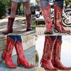 Vieux Gringo Femmes Sz 11 B Rouge Cuir Brodé Nevada Cowgirl Cowboy Bottes