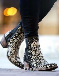 Women's Old Gringo Black Wink Pointed Toe Short Boot Bl2985-1