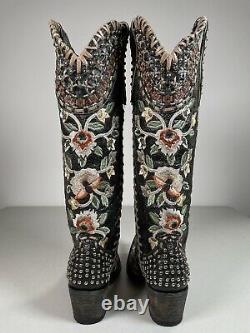 Womens Double D Ranch Boots By Old Gringo Almost Famous Handmade 7.5 Ddl026-2