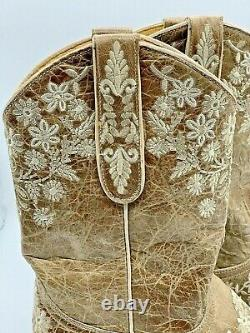 Yippee Ki Yay Kiyay Vieille Gringo Femmes Taille 8b Évelue 10 Bottes Bone Ouest